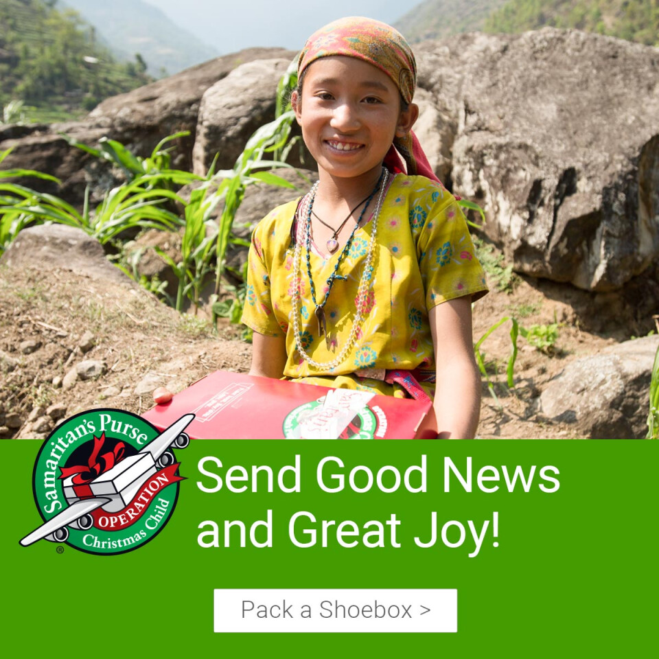 Operation Christmas Child Collection Week (click for schedule)